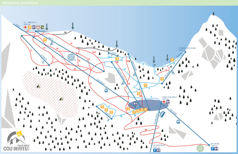 Courmayeur Ski Map Skilife